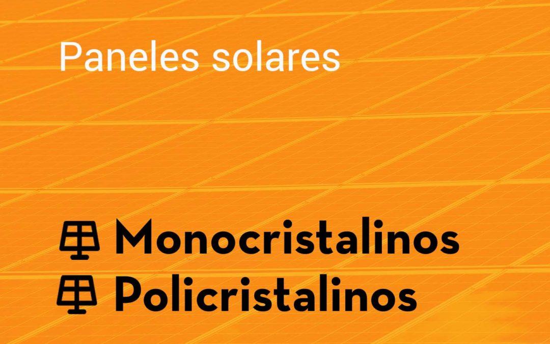 Tipos de panel solar