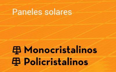 ¿Conoces la diferencia entre panel policristalino y panel monocristalino?