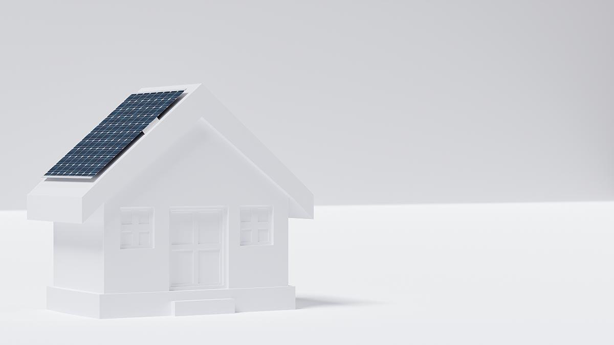 placas solares casa blanca