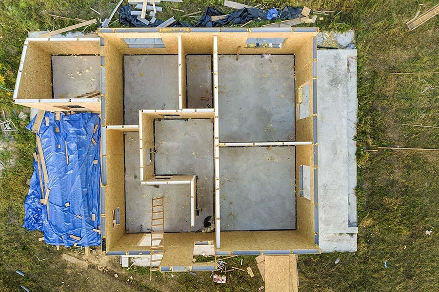 casa prefabricada construyendo